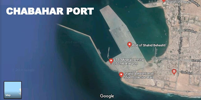 Map Attribute: Chabahar Port, Iran / Source: Google Earth