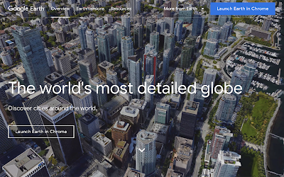 Google Earth Launch page
