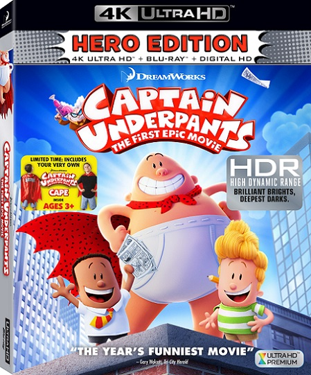Captain Underpants: The First Epic Movie 4K (Las Aventuras de Capitán Calzoncillos 4K) (2017) 2160p 4K UltraHD HDR BDRip 6.4GB mkv Dual Audio AC3 5.1 ch