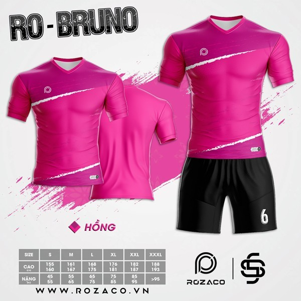 Áo Không Logo Rozaco RO-BRUNO Màu Hồng Sen