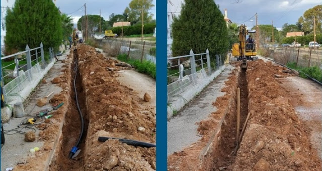ΔΕΥΑ Ναυπλίου: Αλλαγή τμημάτων δικτύου ύδρευσης σε Δρέπανο και στην Αγία Κυριακή