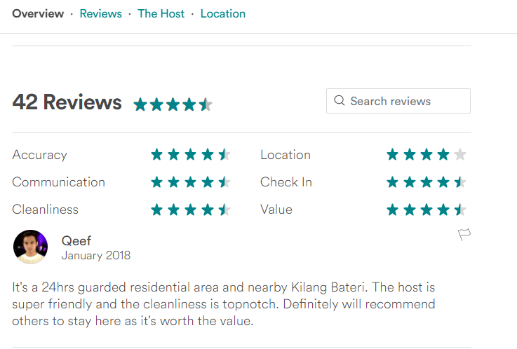 Review by Airbnb Guests: DELUXE green room