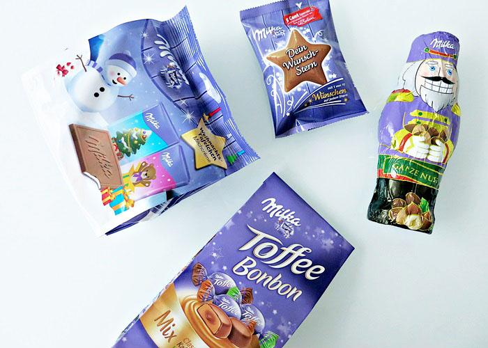 Milka-News #6 :: Wunsch-Stern / Weihnachtstäfelchen / Haselnussknacker / Toffee Bonbon Mix