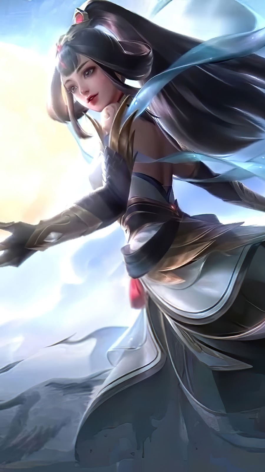 Wallpaper Guinevere Lady Crane Skin Mobile Legends HD for Android and iOS