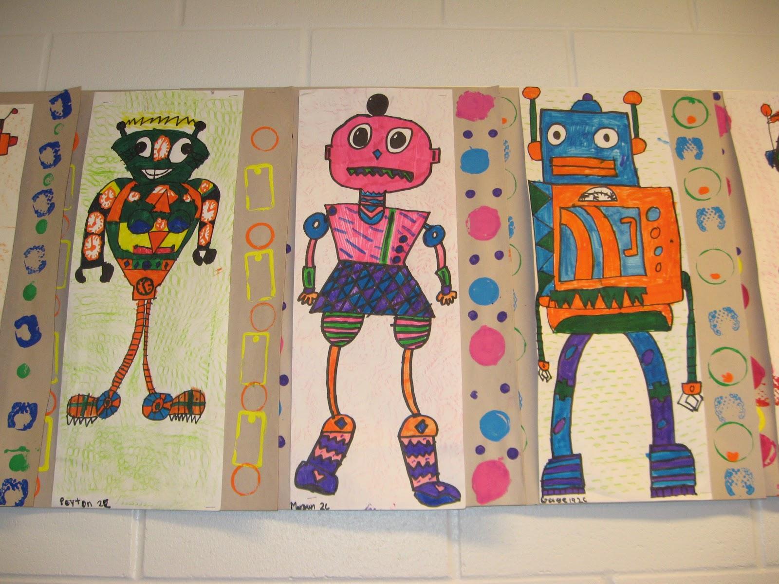 Jamestown Elementary Art Blog 2nd Grade Da Vinci Invented Robots