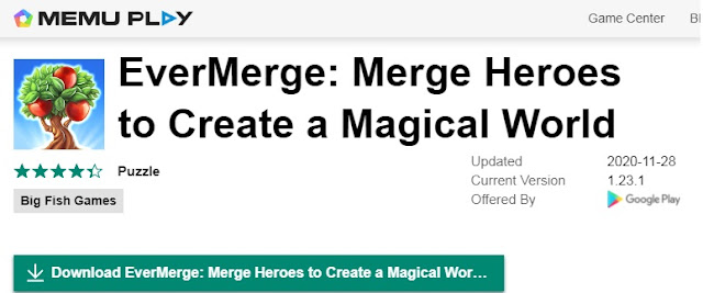 Evermerge for PC- download using Memu Play