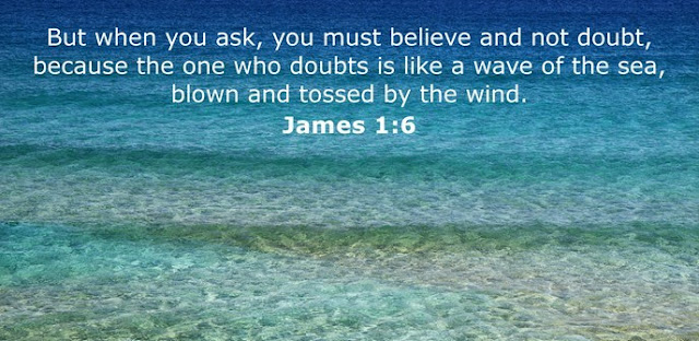 But when you ask, you must believe and not doubt, because the one who doubts is like a wave of the sea, blown and tossed by the wind.