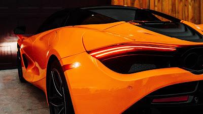 Wallpaper Orange Mclaren, Supercar, Tailight, Back View