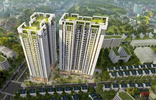 Phối cảnh dự án chung cư Sky Central 176 Định Công