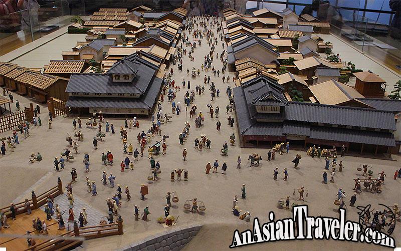 Edo Tokyo museum miniature models