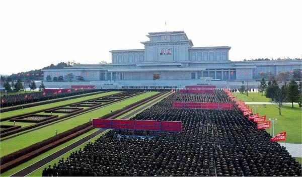 Report of loyalty at Kumsusan Palace of the Sun, November 20, 2020