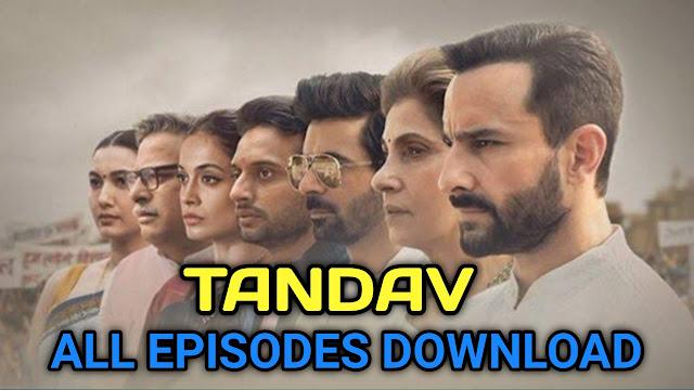 Tandav web series download filmywap, movieflix