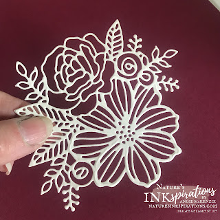 The die-cut with the adhesive backing on the front.  Time to remove the backing for the leafing application.  |  Nature's INKspirations by Angie McKenzie