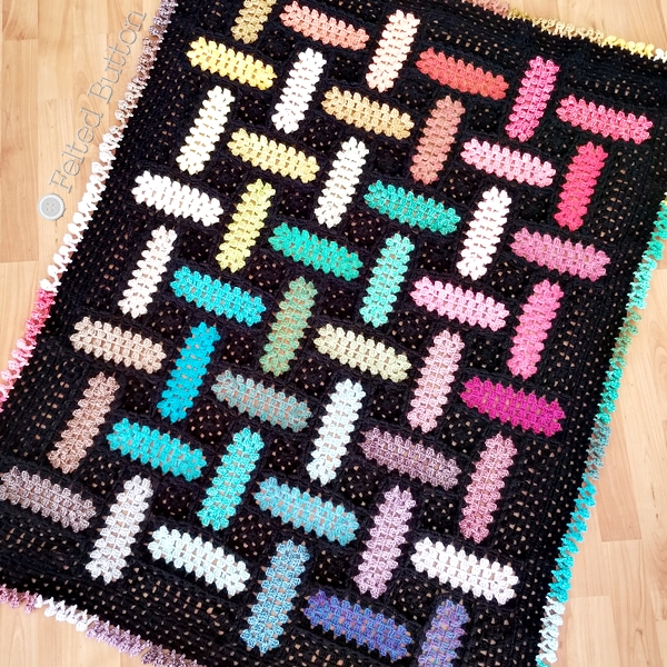 Warp and Weft Blanket (free crochet pattern) by Susan Carlson of Felted Button