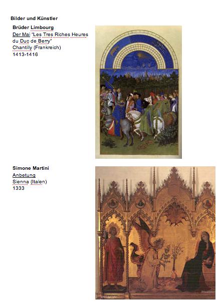 Kunst und umzu: Kunstgeschichte Übersicht mit Arbeitsblättern