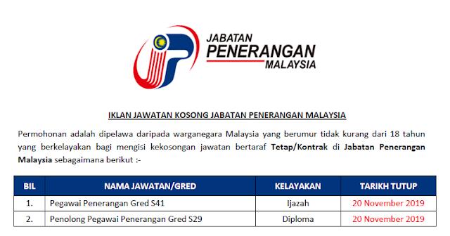 jawatan kosong kerajaan 2019 di jabatan penerangan malaysia