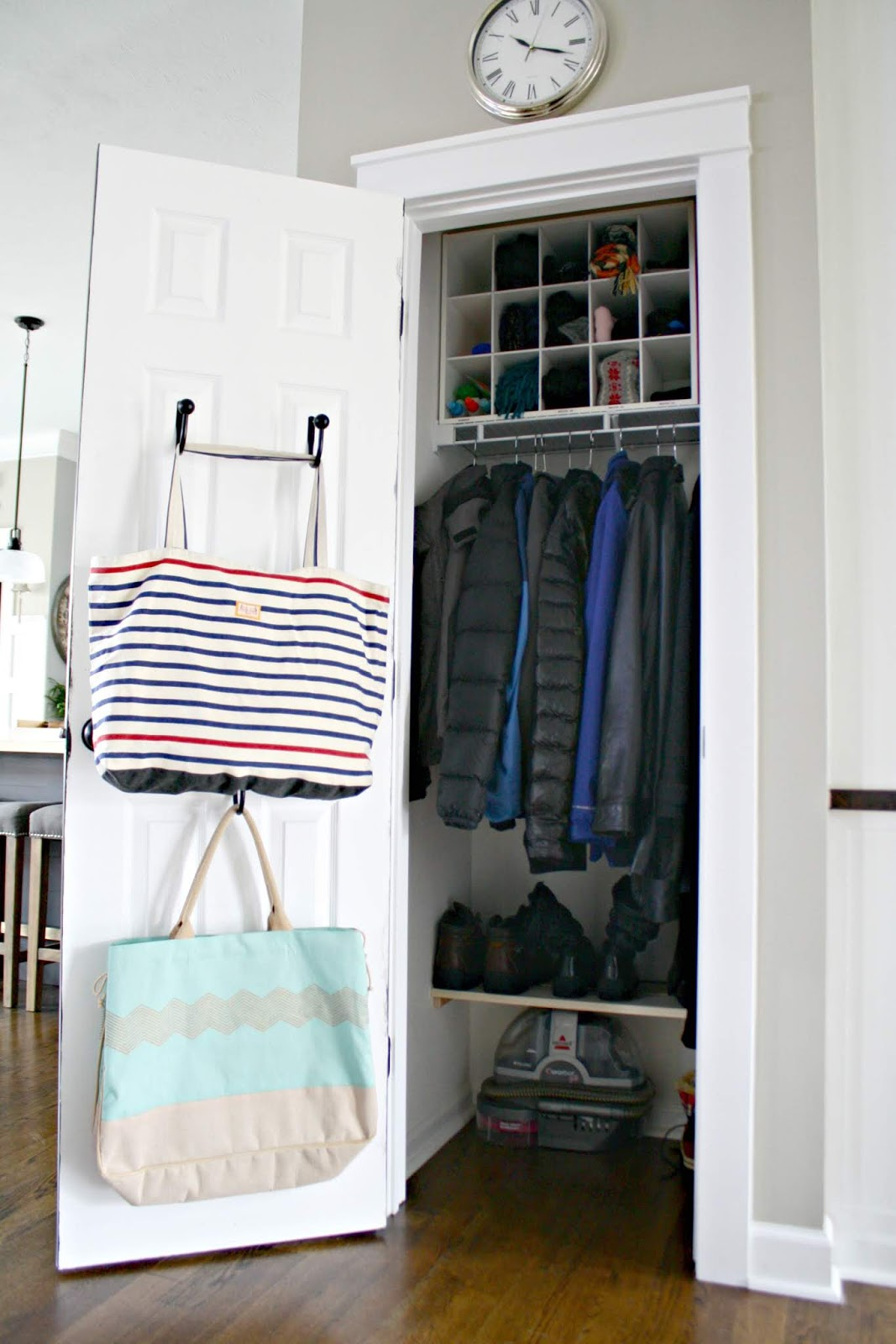 Hacks to get things organized in coat closet