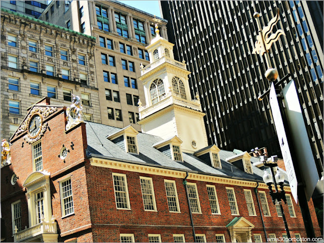 Museo del Old State House en Boston, Massachusetts
