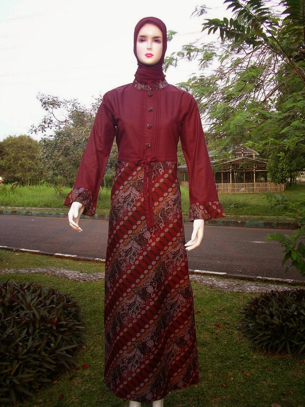 Model baju gamis batik remaja trend 2020 Gaya Masa Kini