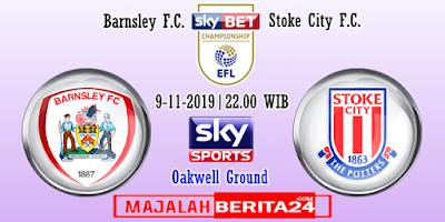 Prediksi Barnsley vs Stoke City — 2 November 2019