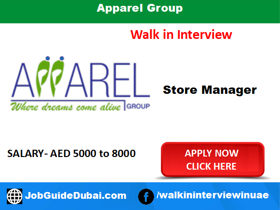 Apparel Group career for Store Manager job in Dubai