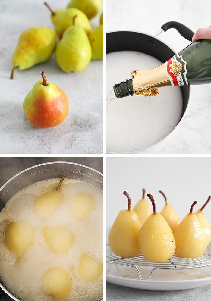 Poached Pear Vol au Vents