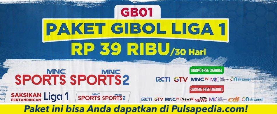 Paket Gibol Liga 1 KVision Bromo, Cartenz, dan GOL