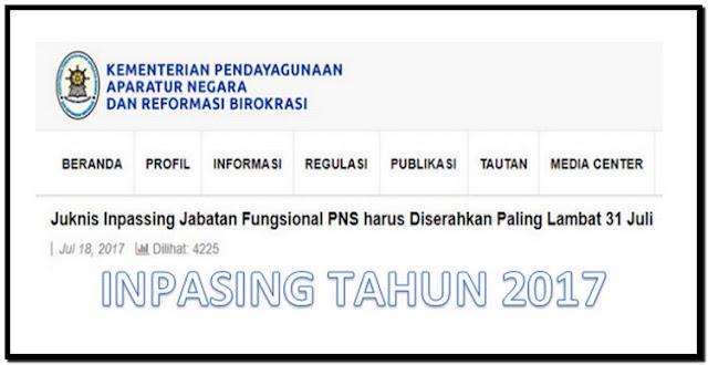 Edaran Juknis Inpassing Jabatan Fungsional PNS Tahun 2017