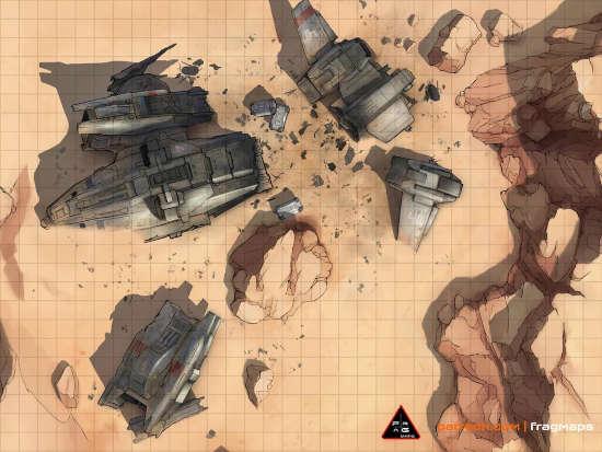 VTOL Crash Site Battlemap