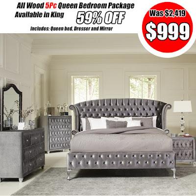 best selling metallic queen bedroom set