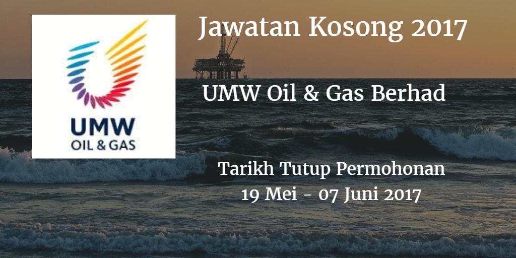 Jawatan Kosong UMW Oil & Gas Berhad 19 Mei - 07 Juni 2017