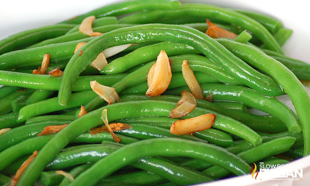 Green Beans with Garlic close up