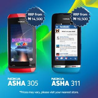 Nokia ASHA 305 and 311