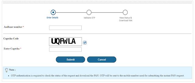 pan card online apply 2021