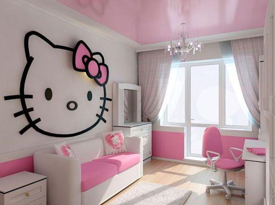 Chambre bébé fille thème hellokitty
