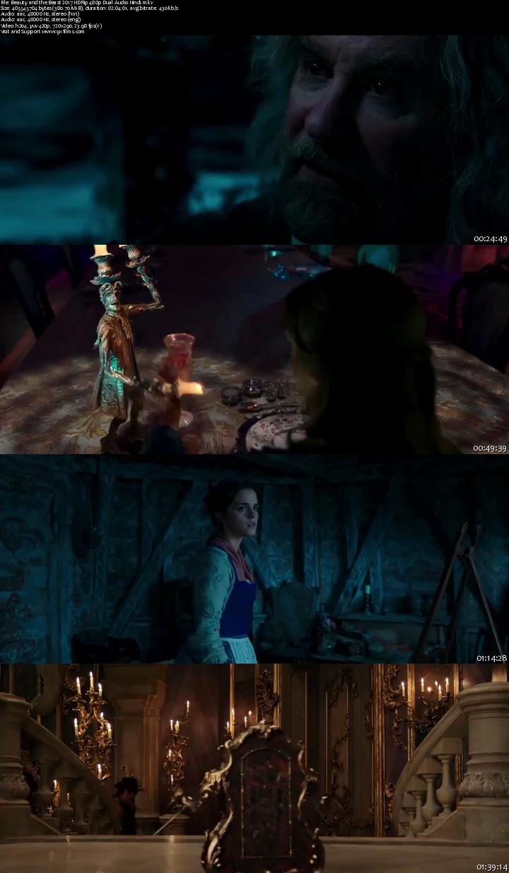 Beauty and the Beast 2017 HDRip 480p Dual Audio Hindi