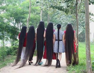 Model rambut yang terlalu panjang