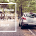 Follow these tips to find the right car for rent