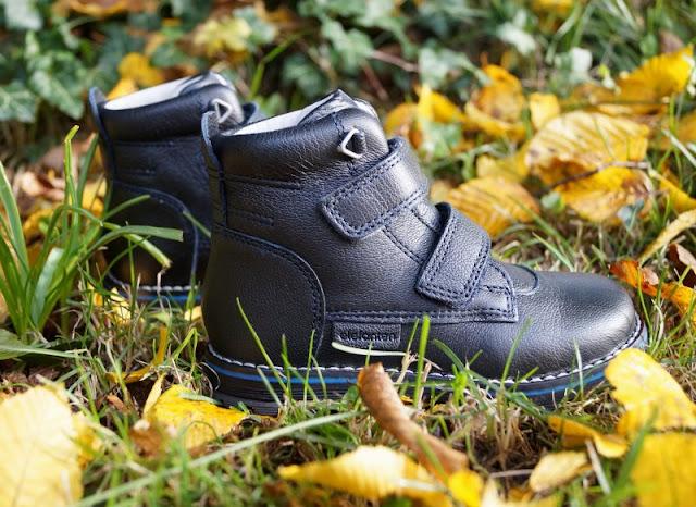 Junge Schuhe Leder robust blau schwarz