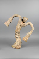 Dancer figurine, unearthed from the Tomb of the King of Chu, Tuolan Mountain, Xuzhou, Jiangsu. Western Han period (206 BCE–9 CE), 2nd century BCE. Earthenware. Xuzhou Museum [Credit © Xuzhou Museum]