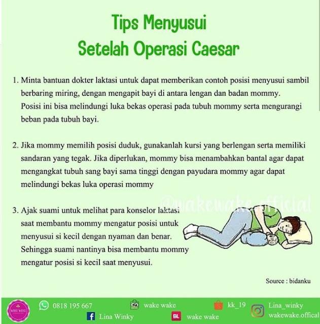 Tips Menyusui Setelah Operasi Caesar