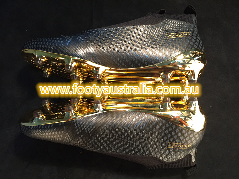 super popular 0a017 84466 Taking color advice from the classy Juventus third kit, the Adidas Ace 16+  PureControl Pogba boots are drenched in black and gold. An understated  black base ...