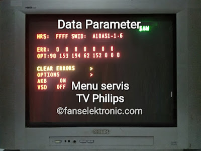 Data Parameter Menu Servis TV Philips 29T6201