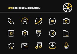 LimeLine IconPack : LineX v1.6 [Patched] Apk
