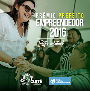 Prefeita de Cuité recebe prêmio Prefeito Empreendedor 2016 do SEBRAE