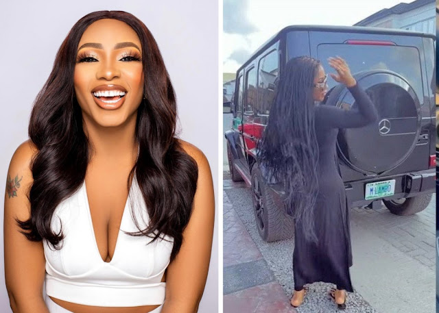 [Video]: Reality star, Mercy Eke acquires new G-Wagon Mercedes Benz