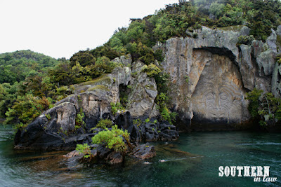 The Story of the Maori Rock Carvings Lake Taupo - Ernest Kemp Cruises Review