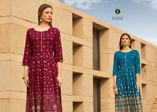 Kalki Womaniya Vol 2 long Gown Type kurtis Collection