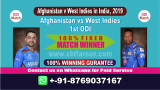 1st ODI AFGH vs WI Match Prediction Today Afghanistan v West Indies in India, 2019