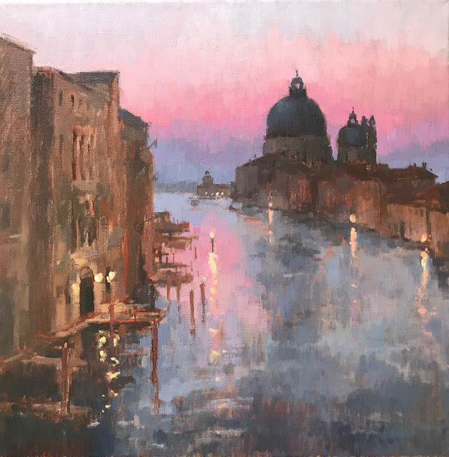 #435 'Sunrise, The Grand Canal' 50x50cm